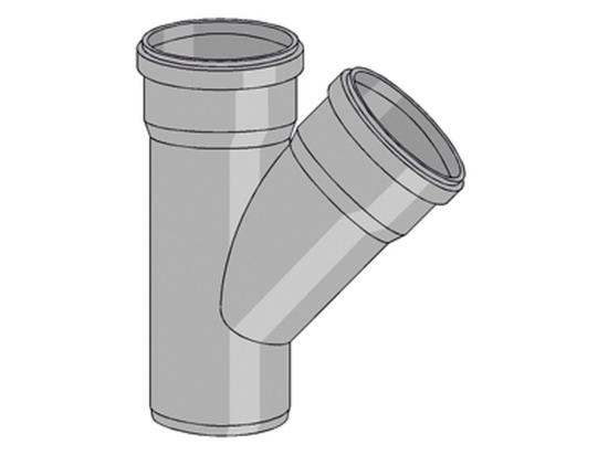 Friaphon 2239, Grenrör, 160x110x45°   Inomhusavlopp - PVC- och