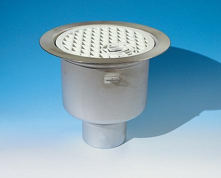 Populära Heavy, Golvbrunn, vattenlås av plast, 220x110, rostfrit stål SI TX-63