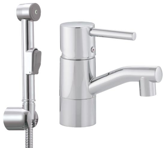 Inredning tvättställsblandare med dusch : FMM, Garda, Tvättställsblandare, Softpex, sjävstängande dusch, G10